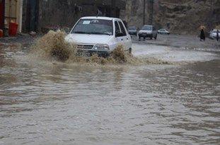 بارشهای شدید در استان بوشهر/ آبگرفتگی معابر و وقوع سیلاب