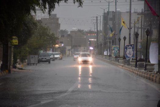 گزارش تصویری بارش باران در جم