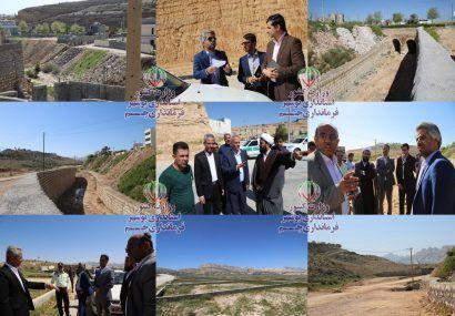 بازدید میدانی فرماندار و شورای تامین شهرستان از وضعیت زمین خواری و تجاوز به رودخانه های جم+ تصاویر