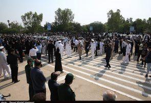 استقبال از شهدای ارتش در بوشهر+تصاویر و فیلم