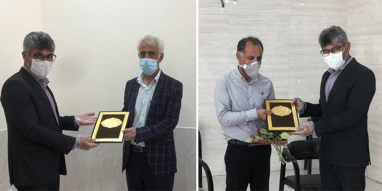 تقدیر رئیس خانه مشارکت استان از رئیس شبکه بهداشت و مدیر مرکز تصویربرداری فاضل جمی