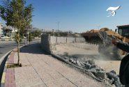 رفع تصرف به بستر رودخانه در شهر جم/ ۱۸۰۰ متر مربع آزادسازی شد+عکس و فیلم