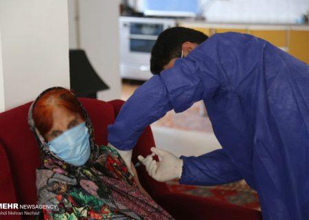 واکسیناسیون سالمندان ناتوان در منزل/ تصاویر